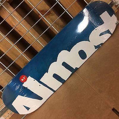 New Almost Side Pipe PP Blue Skateboard Deck - 8.5in Almost Skateboard Decks