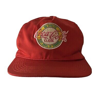 Vintage Coca Cola Rope Snapback Hat Official Soft Drink of Summer Embroidered