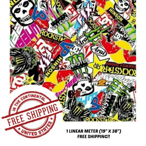 WATER TRANSFER HYDROGRAPHIC FILM HYDRO DIP HYDRO-DIPPING STICKER BOMB B 1M
