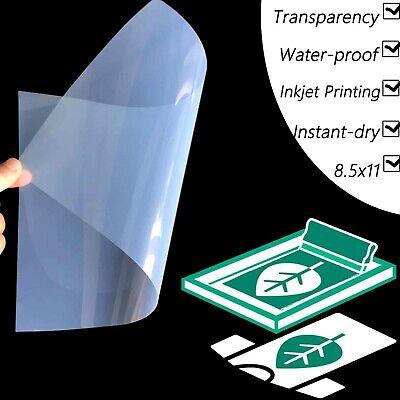 8.5x11screen Printing Waterproof Inkjet Transparent Film For Epson100 Sheets