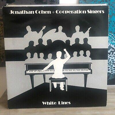 JONATHAN COHEN WHITE LINES 1982 KITSCH VINTAGE EASY LISTENING VINYL LP