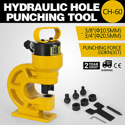 Ch-60 Hydraulic Hole Punching Tool Puncher 31t Iron Plate Single Oil Return 34
