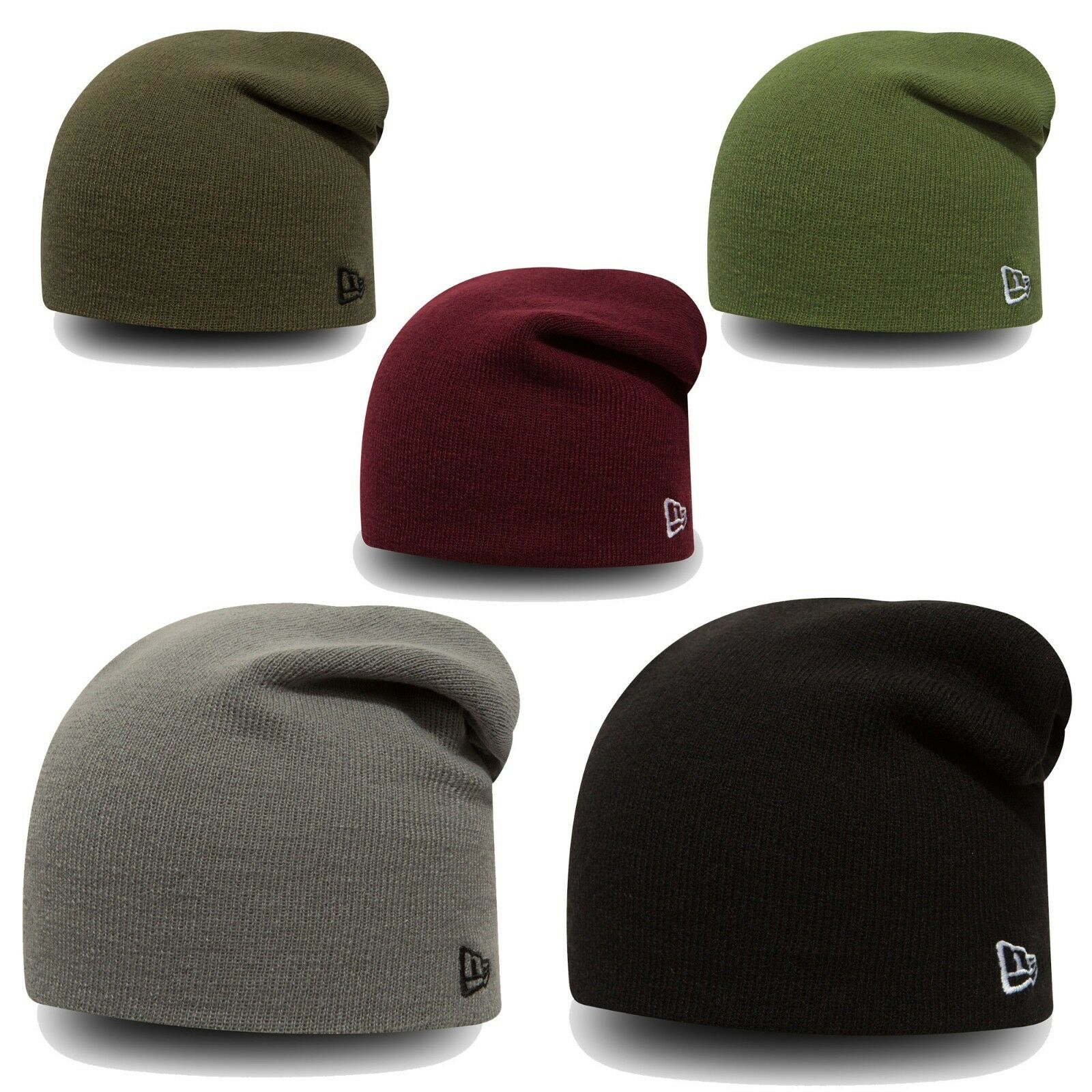 New Era Long Beanie Mens Womens Hat Slouch Trend Skull Knit Unisex Hats aa4924f0392