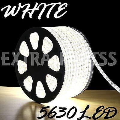 5M 300Leds 5630 White Super Bright LED Strip SMD Light Waterproof 12V DC US