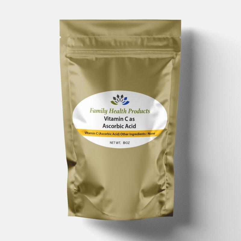 Vitamin C Powder As Ascorbic Acid 8 Oz Non Gmo Kosher Usp Fcc Grade