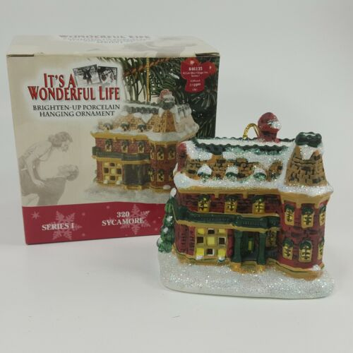 Its A Wonderful Life 320 SYCAMORE 109411 Christmas Ornament Enesco PDH1W