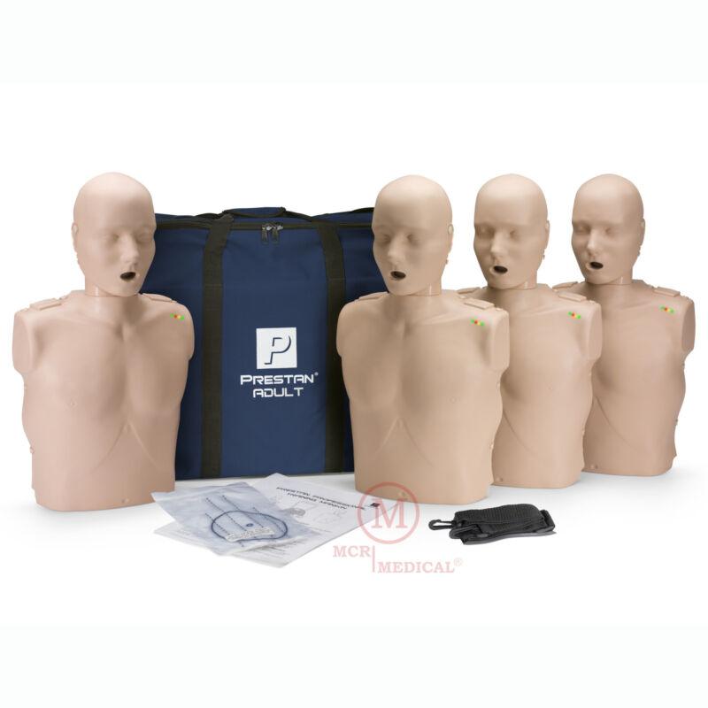 4-Pack Prestan ADULT CPR Manikins w Feedback, Med Tone PP-AM-400M-MS mannequins