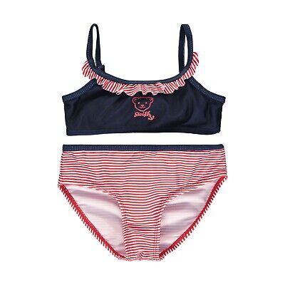 Steiff Mädchen Bikini Set Bademode 2 teilig gr. 122 / 6 - 7 Jahre navy blue