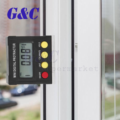 ZicHEXING-US 360 Degree Mini Digital Protractor Inclinometer Electronic Level Box