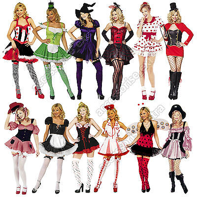Womens Halloween Fancy Dress Costumes Sexy Many Styles Size XS-XL Lot](Burlesque Style Halloween Costumes)