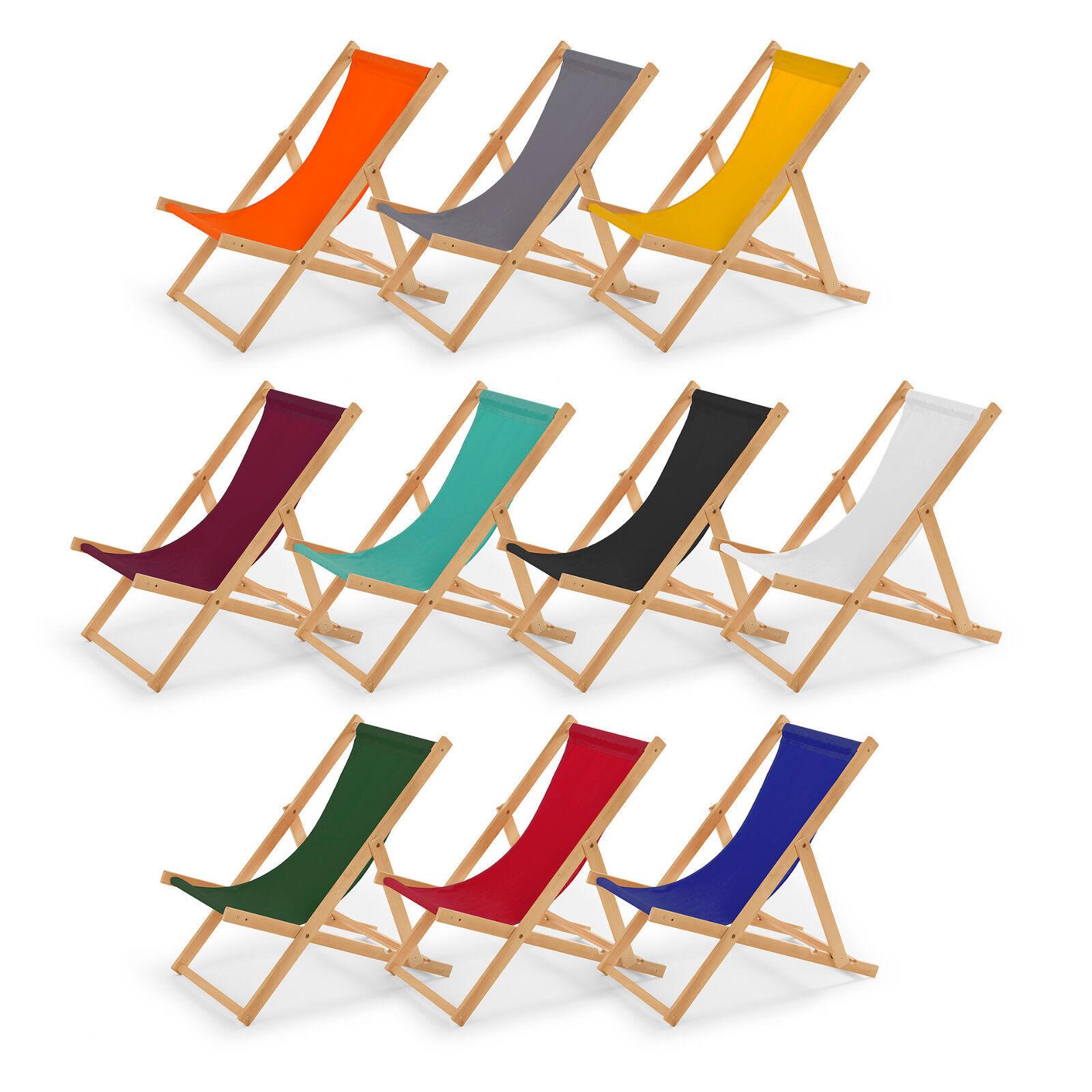 Sonnenliege Strandliege Holz  Liegestuhl Gartenliege aus Holz