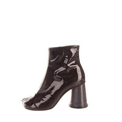 RRP €590 MM6 MAISON MARGIELA Leather Ankle Boots EU 38.5 UK 5.5 US 8.5 Cup Heel