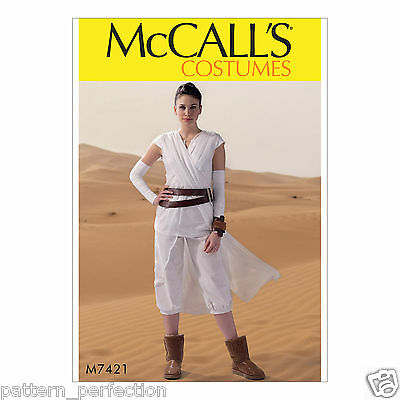 McCall's 7421 Sewing Pattern to MAKE Star Wars Rey Costume Stretch Tabard & - Make Star Wars Costume