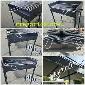 Barbecue-tipo-pesante-artigianale-con-griglia-registrabile-su-due-livelli