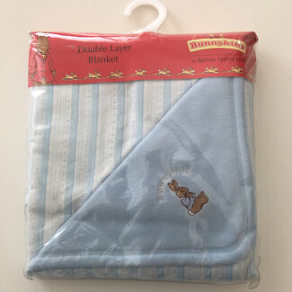 Bunnykins Baby wrap blanket - royal doulton - new