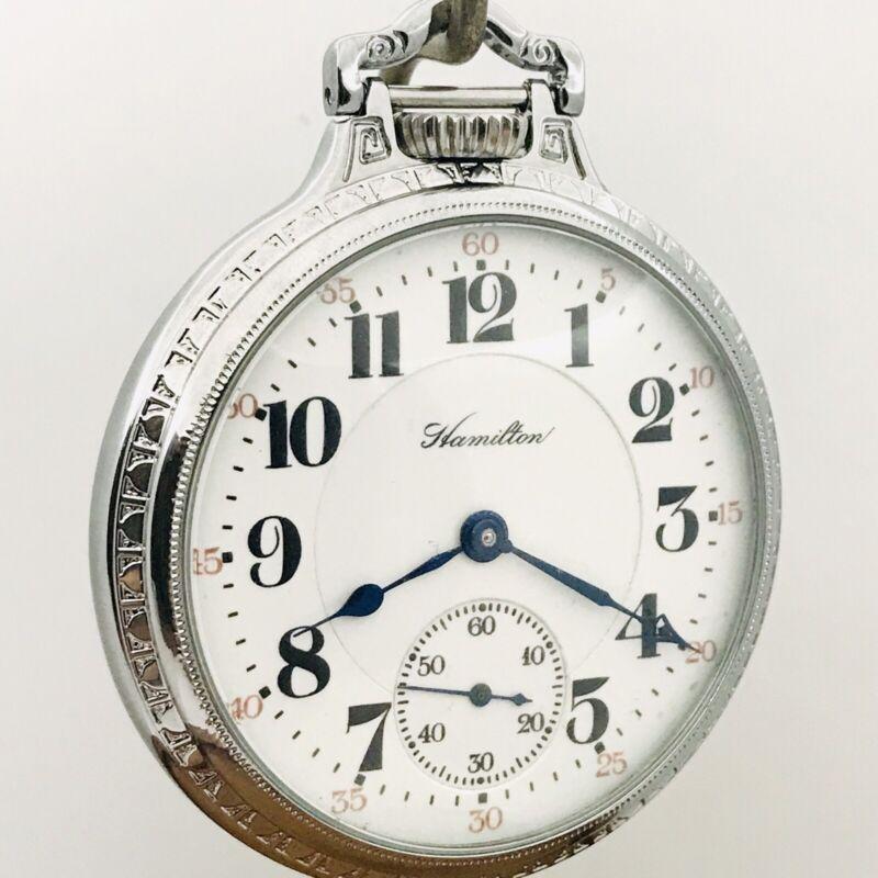 WOW 1921 Hamilton 992 16S 21J Display BOC Bar Over Crown Railroad Pocket Watch