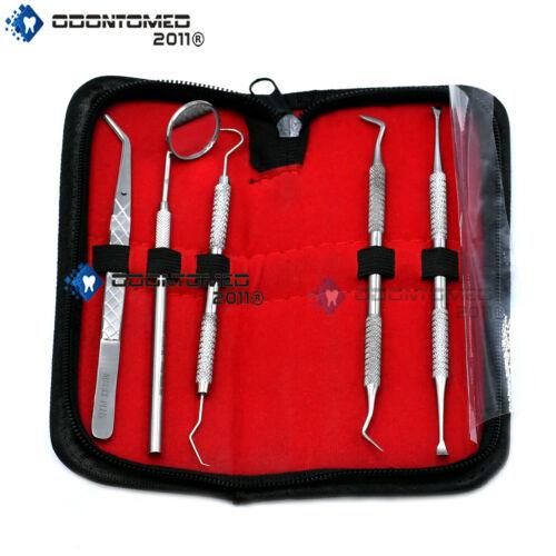 5 set Stainless Steel Dentist Tool Hygiene Cleaning Tooth Dental Pick Kit PR-298