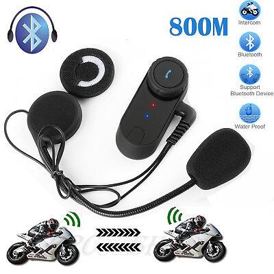 800m Motorrad Bluetooth Gegensprechanlage Helm Sprechanlage FM Intercom Headset