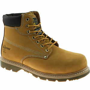 mens grafters leather safety work boots size uk 13 15