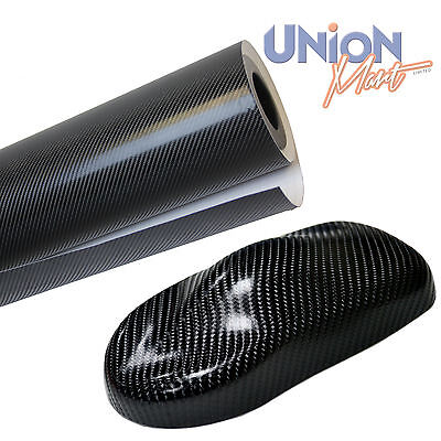 4D Carbon Fibre Vinyl Wrap Film  Bubble  & Air Free 1520mm x 600mm Black
