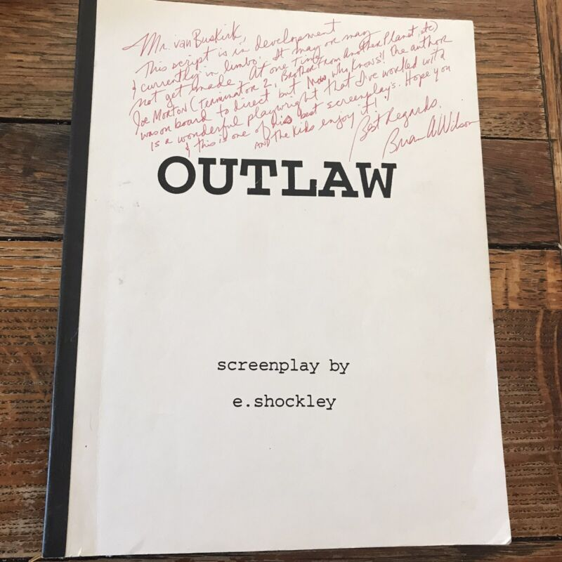 Unproduced Movie Script Outlaw E. Shockley Signed Brian A. Wilson