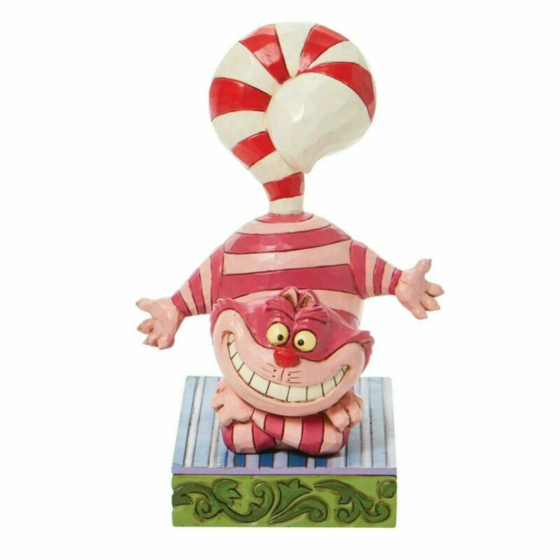 Disney Traditions Cheshire Candy Cane Tail Figurine 6008984