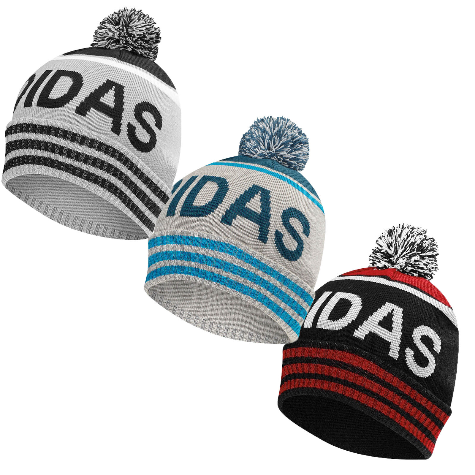 de3a9b888c8d4 Adidas Golf Men's Pom Beanie Winter Bobble Hat Cap - Pick Color! שמור מוצר.  מוצר מבוקש. gallery image