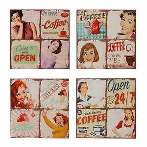 50 39 s diner themed canvas wall art cafe coffee ice 50s home decor uk