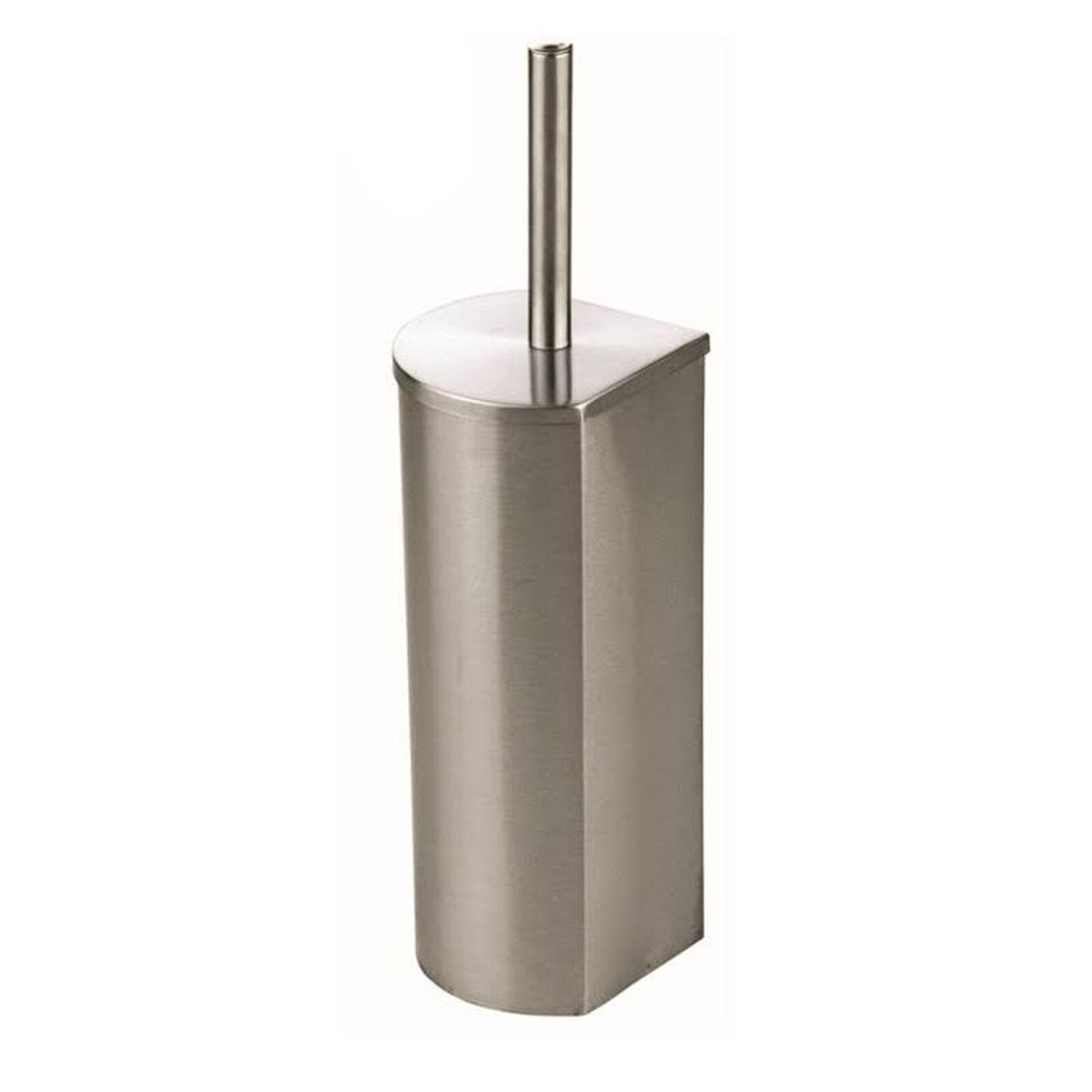 Steel toilet brush roll holder set bin 3l bathroom wc loo for Bathroom bin and brush set