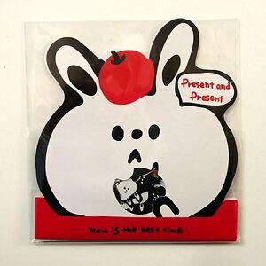 70x Black and White Bunny Rabbit Sticker Flakes