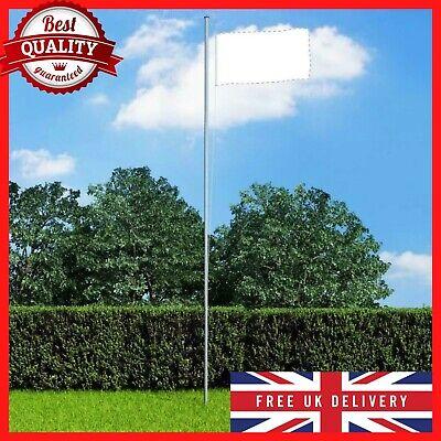 Outdoor Sectional Flagpole Aluminium 6.2m National Flag Pole Halyard Pole Kit UK