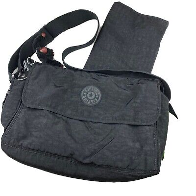 KIPLING SUPERNANNY DIAPER BAG SHOULDER CROSSBODY BABY TOTE W/ CHANGING PAD BLACK