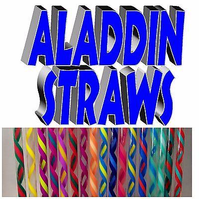 ALADDIN Wide Colorful Straws, 3/8