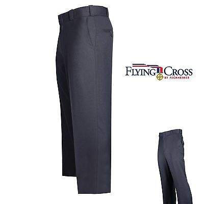 UNIFORM PANTS 54 NO HEM FLYING CROSS FECHHEIMER 3900 4 POCKET 100% POLY NAVY
