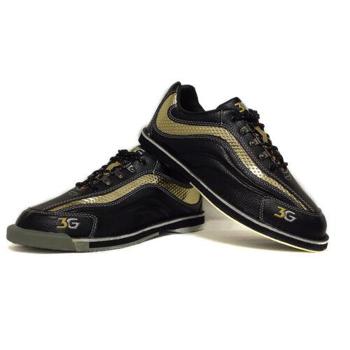3G Sport Ultra Mens Bowling Shoes Black/Gold Left Handed