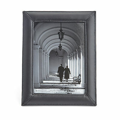 Royce Leather Royce Executive 5 X 7 Desk Photo Frame Display In Genuine Leather