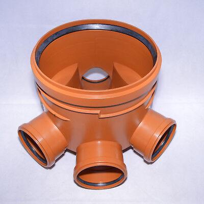 Abwasserschacht KG Schachtboden DN400 - 3 x Zulauf DN160 - 1 x Ablauf DN160