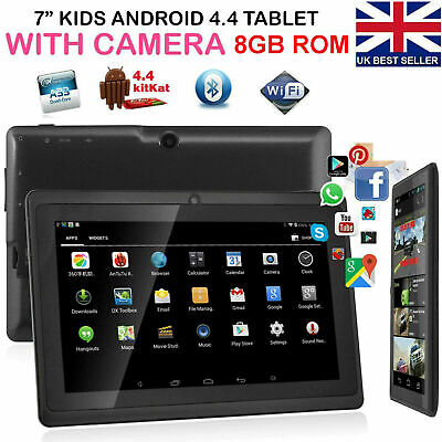 7 Inch Android Tablet 8GB Quad Core Dual Camera Bluetooth Wifi Kids...