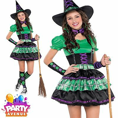 Girls Teen Wicked Cool Witch Halloween Costume Fancy Dress - Cool Halloween Costumes For Girl