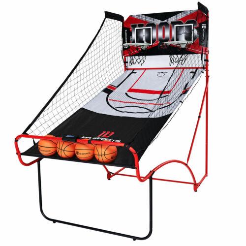 MD Sports Indoor EZ Fold Space Save Dual Shot Arcade Basketball Game, LED Scorer