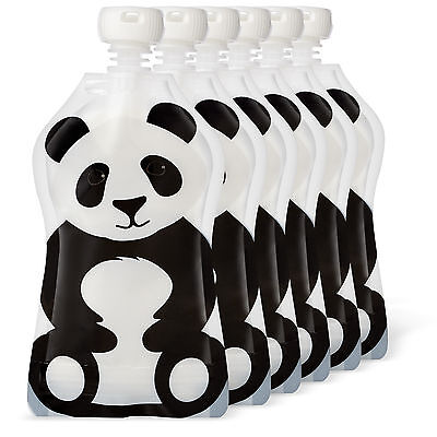 Squooshi 4.5 ounce Reusable Pouches Panda 6 Pack |  FINAL MARKDOWN - CLOSEOUT !