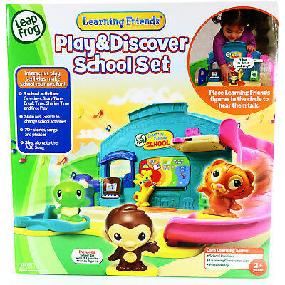 LeapFrog Learning 3 Friends Play and Discover School Set 2014 Preschool 70+ (Leapfrog Learning Friends Play And Discover School Set)