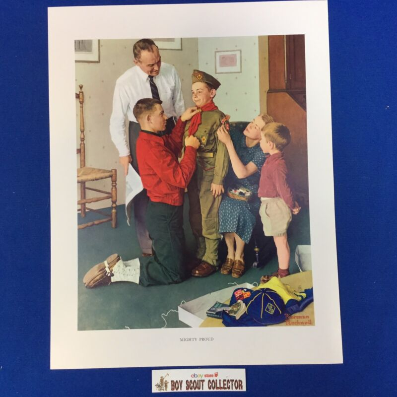 """Boy Scout Norman Rockwell Print 11""""x14"""" Mighty Proud"""