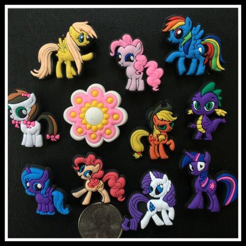11 Shoe Charms for Croc MY LITTLE PONY FRIENDSHIP Pinkie Rainbow Dash Applejack