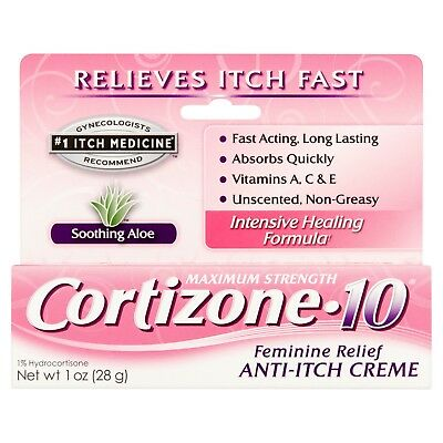 Feminine Relief - Cortizone 10 Maximum Strength Feminine Relief 1% Hydrocortisone Anti-Itch 1 OZ.