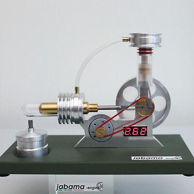 --neu-- Stirling Motor m. Generator u. Spannungsmesser  a400  Physik Lehrmittel