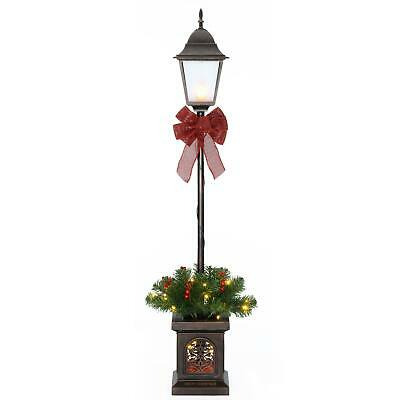 Outdoor Christmas Lamp Decoration Yard Decor Xmas Post Tree Stand Clear Light 4
