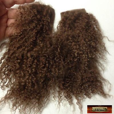 M00762 MOREZMORE Hair Tibetan Lamb Remnants CLASSIC BROWN Doll Wig A60