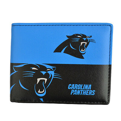 Brand New NFL Carolina Panthers Men Women Synthetic Leather Bi-Fold Wallet Carolina Panthers Leather