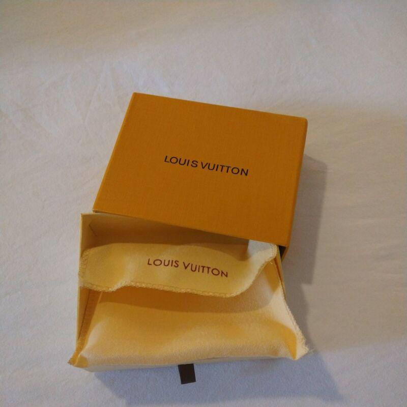 LOUIS VUITTON SMALL Orange Drawer Storage Jewelry Wallet Gift BOX Empty